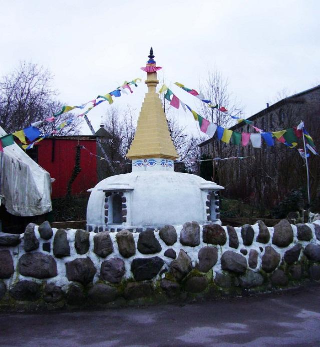Templo, budista, budismo, Christiania, Dinamarca